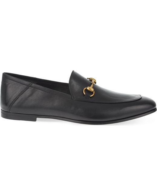 Gucci - Black Brixton Leather Moccasins for Men - Lyst