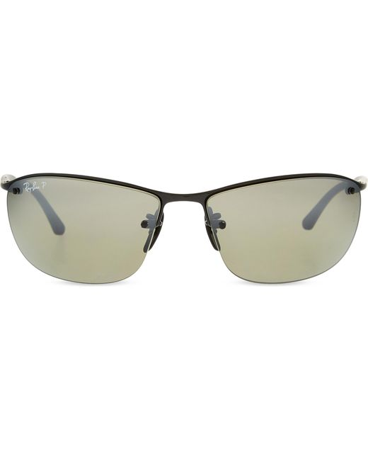 4d84fcc10f0 Ray-Ban Rb3544 Chromance Square-frame Sunglasses in Black - Lyst