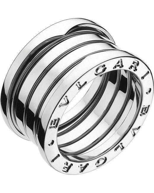 BVLGARI - Metallic B.zero1 Four-band Stainless Steel Ring - For Women - Lyst