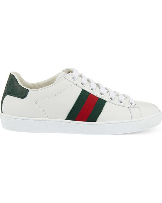 Gucci | Green New Ace Leather Low-top Sneaker | Lyst