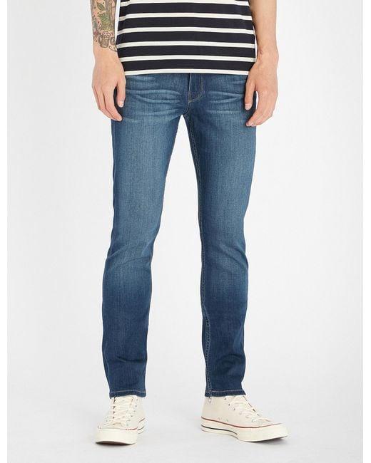 PAIGE - Blue Lennox Skinny Jeans for Men - Lyst