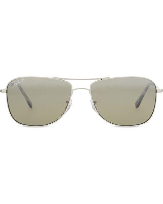 bc7581336e Lyst - Ray-Ban Rb3543 Chromance Aviator Sunglasses in Metallic for Men