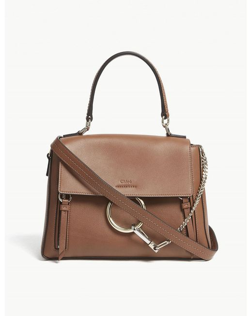 Chloé - Brown Faye Day Small Leather Shoulder Bag - Lyst