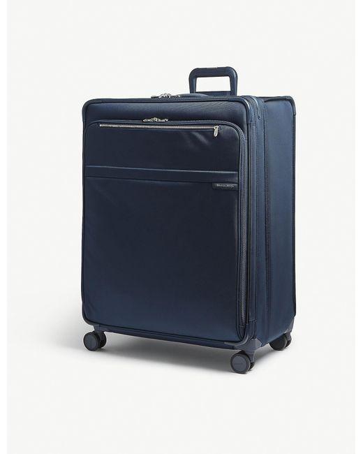 Briggs & Riley - Navy Blue Baseline Xl Expandable Suitcase for Men - Lyst