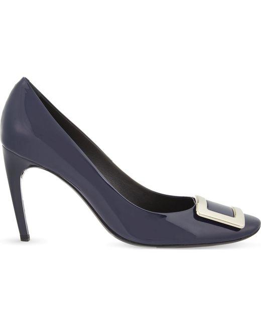 Roger Vivier - Blue Belle De Nuit T85 Patent-leather Courts - Lyst