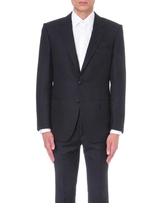 Gieves & Hawkes - Blue Regular-fit Wool Jacket for Men - Lyst