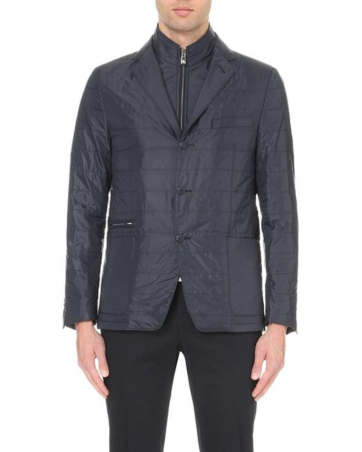 Corneliani | Blue Quilted Removable-insert Shell Jacket for Men | Lyst
