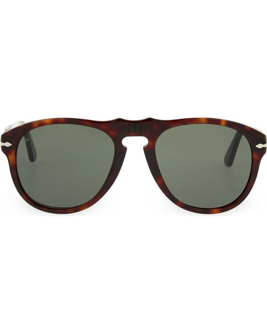 Persol | Black Havana Aviator Sunglasses for Men | Lyst