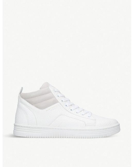 Kurt Geiger - White Phoebe High-top Faux-leather Trainers for Men - Lyst