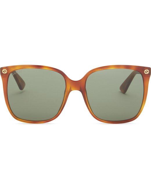 ef4e9fac5d0 Gucci Gg0022s Square-frame Sunglasses in Brown - Lyst