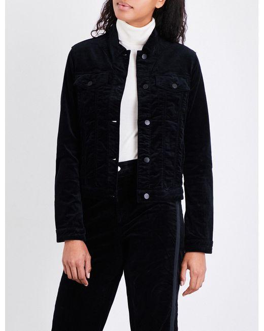 J Brand | Black Faye Velvet Jacket | Lyst