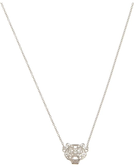 KENZO   Metallic Mini Tiger Necklace   Lyst