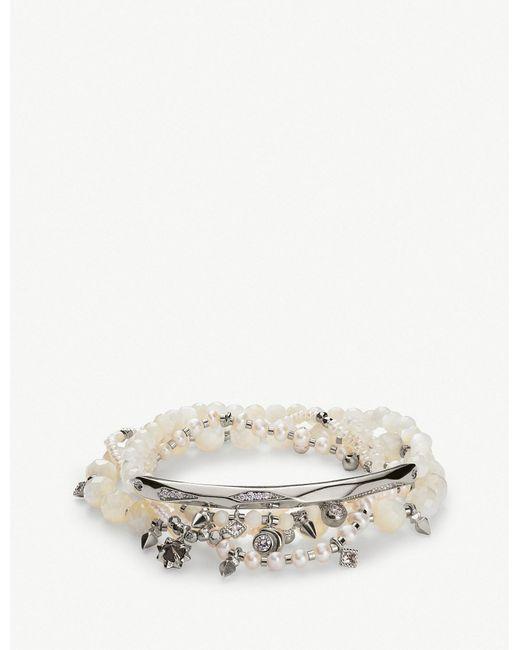 Kendra Scott - Metallic Supak Rhodium-plated Beaded Bracelet - Lyst