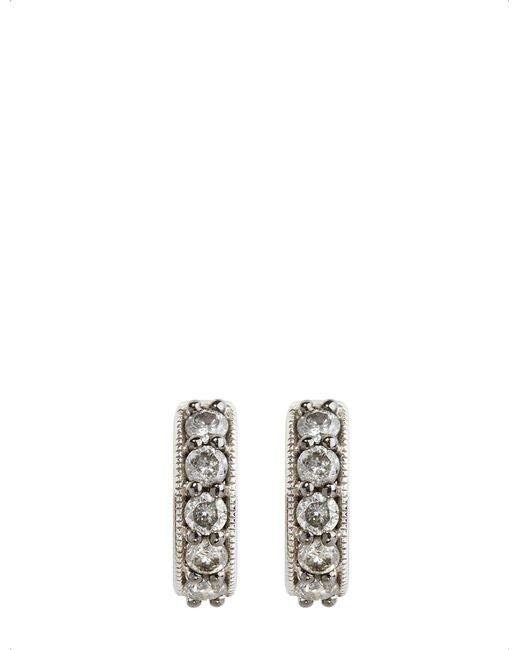 Annoushka - Metallic Dusty Diamonds 18ct White-gold And Diamond Hoop Earrings - Lyst