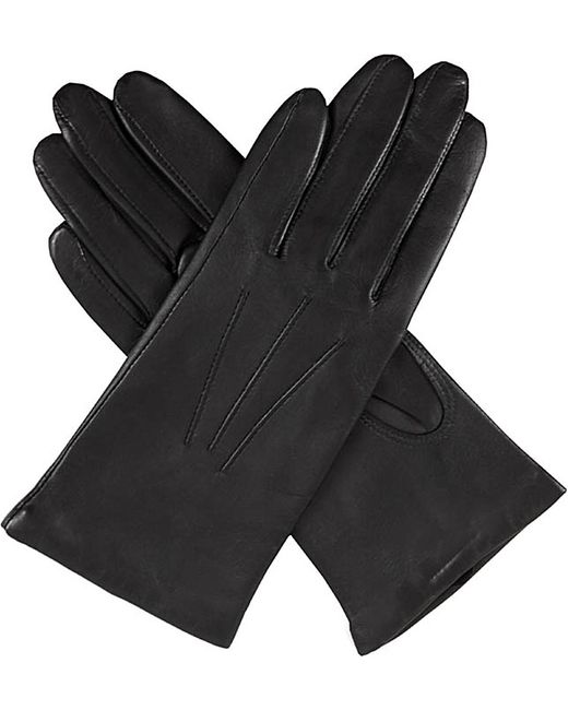 Dents | Black Cashmere-lined Leather Gloves | Lyst