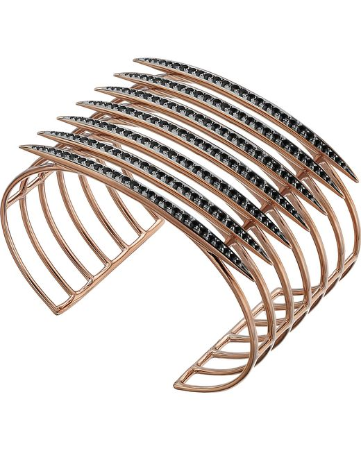 Shaun Leane | Metallic Rose Gold Vermeil And Black Spinel Quill Cuff | Lyst