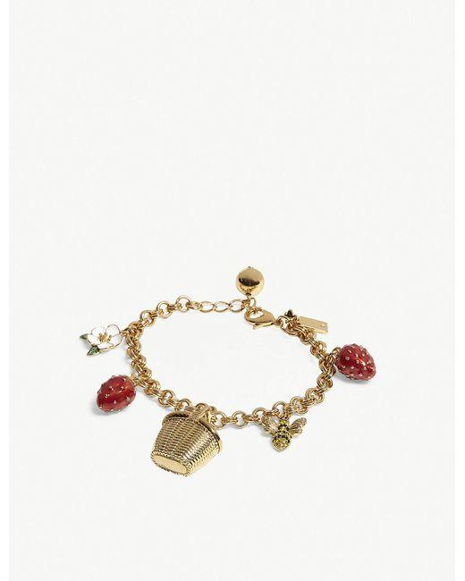 Kate Spade - Metallic Picnic Perfect Charm Bracelet - Lyst