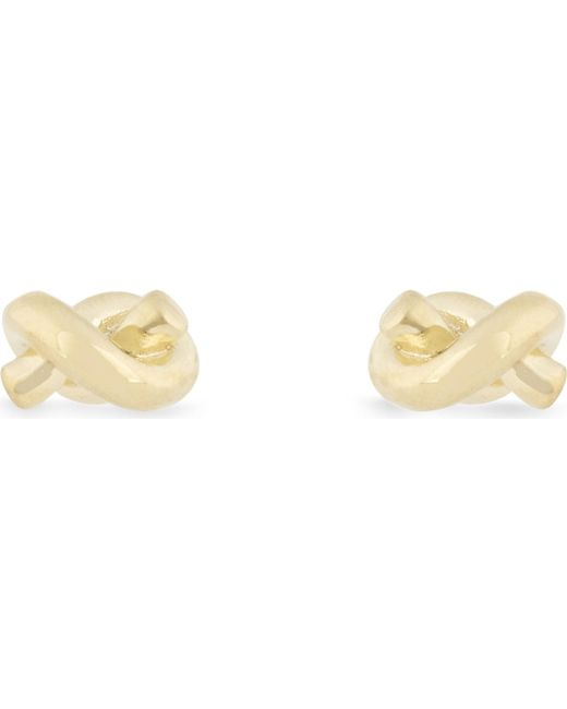 Kate Spade | Black Sailor's Knot Gold-plated Earrings | Lyst