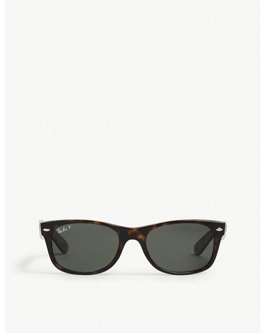 Ray-Ban - Black Rb2132 New Wayfarer Polarised Sunglasses - Lyst
