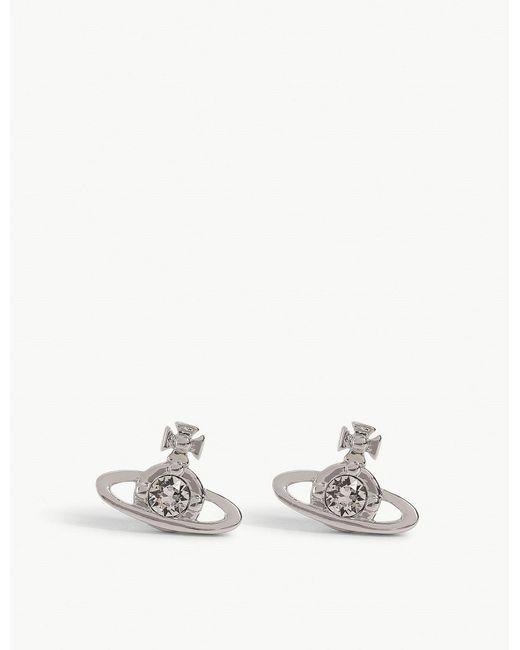 Vivienne Westwood - Metallic Nano Solitaire Single Stud Earring - Lyst