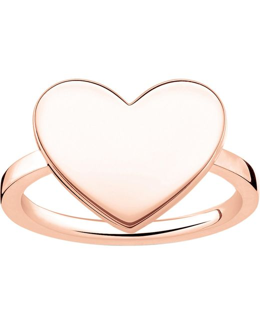 Thomas Sabo | Metallic Love Bridge Engraveable Rose Gold-plated Heart Ring | Lyst