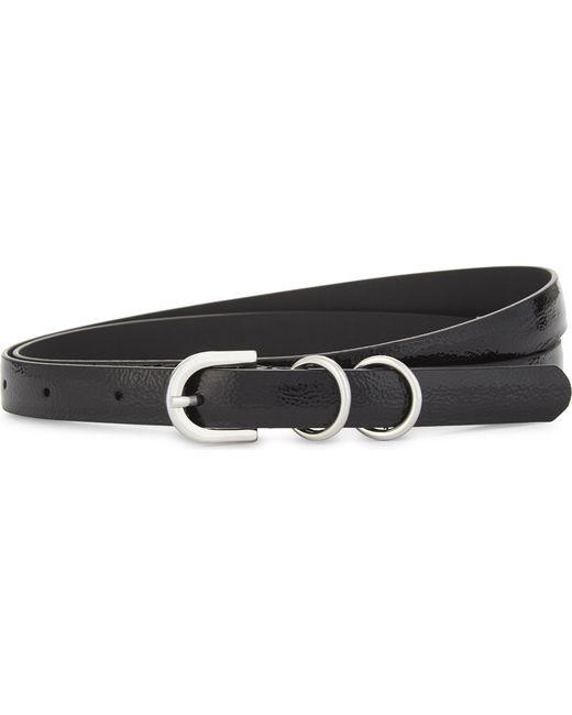 Claudie Pierlot | Black Patent Skinny Belt | Lyst