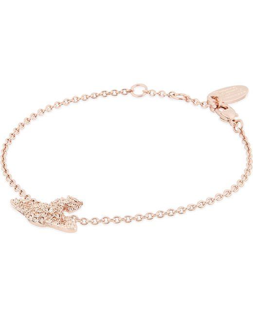 Vivienne Westwood | Pink Grace Bas Relief Pavé Orb Bracelet | Lyst
