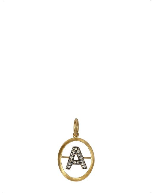 Annoushka - Metallic 18ct Yellow-gold And Diamond A Pendant - Lyst
