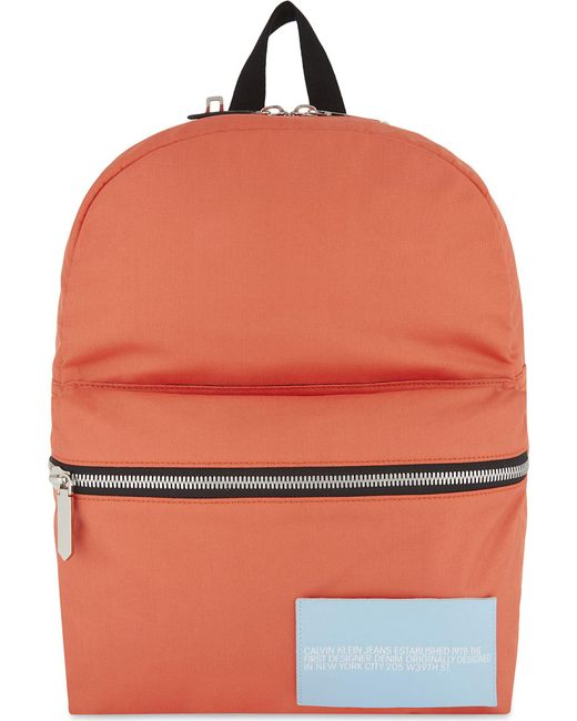 Calvin Klein | Black Logo Backpack for Men | Lyst