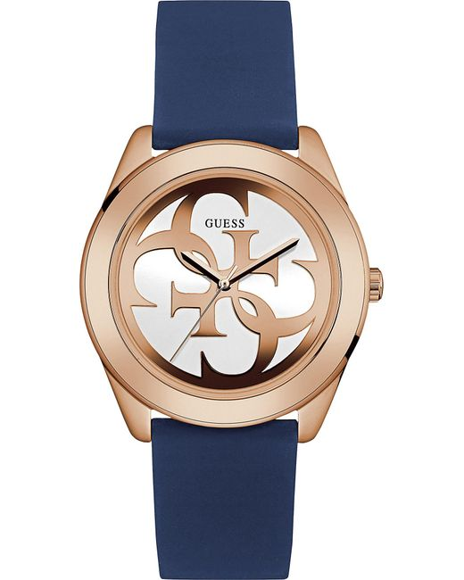 Guess - Metallic W0911l6 G Twist Gold-plated And Silicone Watch - Lyst
