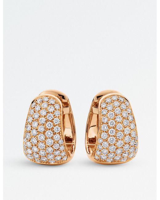 BUCHERER JEWELLERY - Metallic Classics 18ct Rose-gold Diamond Earrings - Lyst