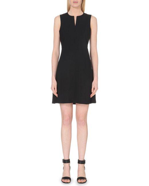 Theory - Black Miyani Stretch-wool Dress - Lyst