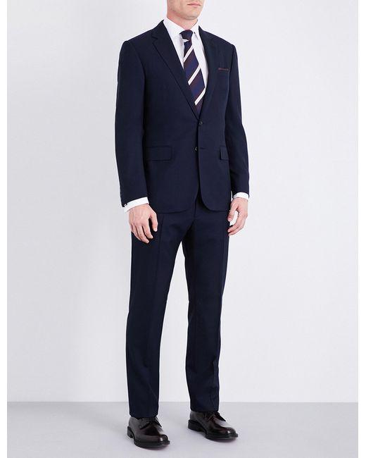 Ralph Lauren Purple Label | Blue Glenplaid-patterned Regular-fit Wool Suit for Men | Lyst