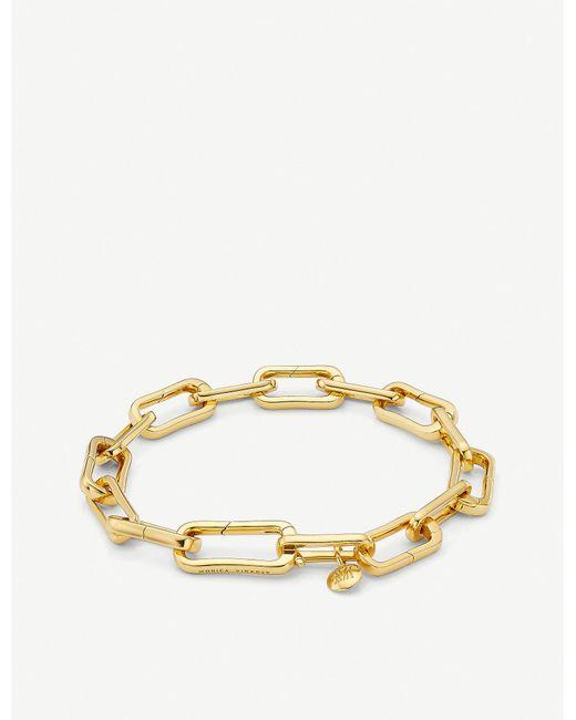 Monica Vinader - Metallic Alta Capture 18ct Gold-vermeil Charm Bracelet - Lyst