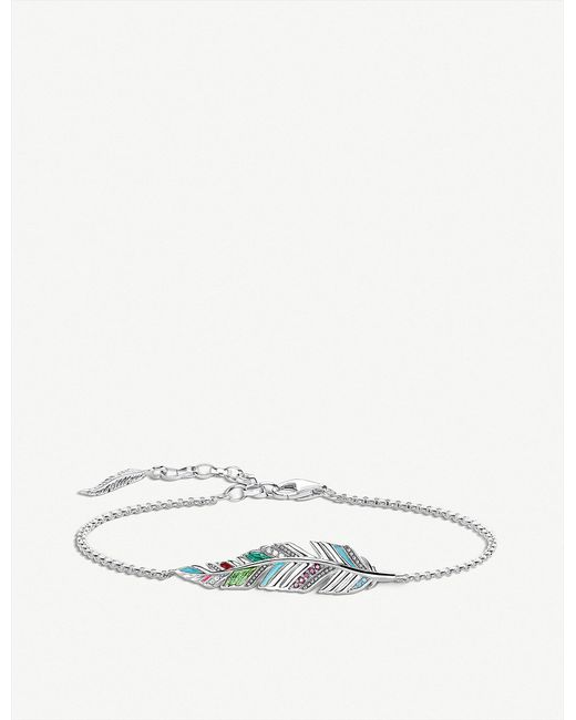 Thomas Sabo - Metallic Tropical Feather Sterling Silver Bracelet - Lyst