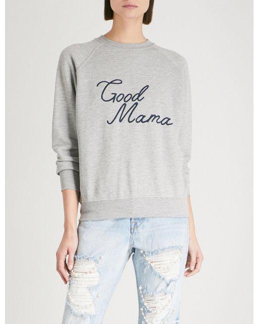 GOOD AMERICAN - Gray Good Mama Cotton-jersey Sweatshirt - Lyst