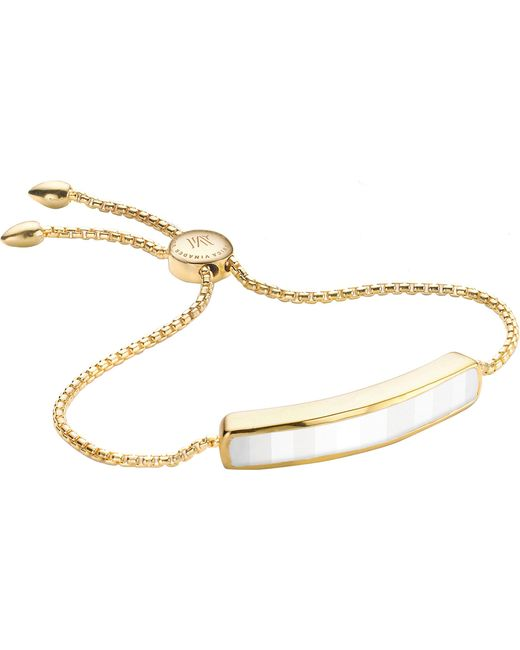 Monica Vinader - Metallic Baja 18ct Gold-plated Vermeil And White Chalcedony Bracelet - Lyst