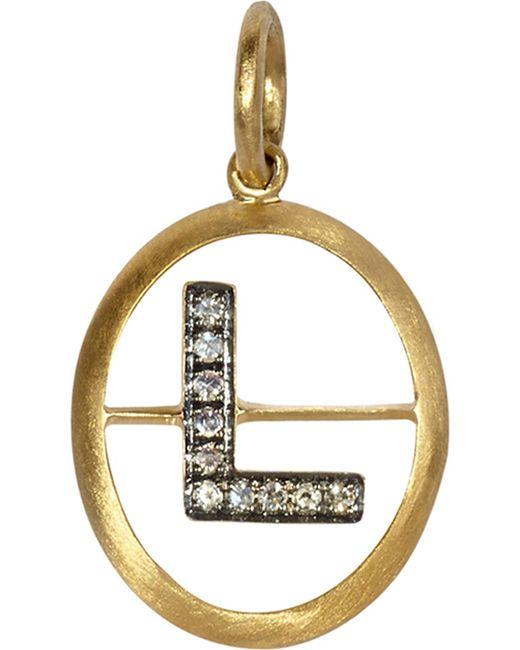 Annoushka - 18ct Yellow-gold And Diamond K Pendant - Lyst