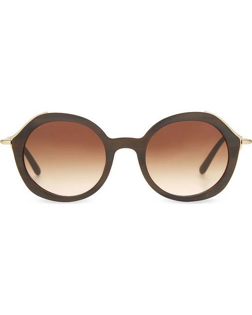 Armani Gold Frame Sunglasses : Giorgio armani Ar8075 Gold-toned Detail Round-frame ...