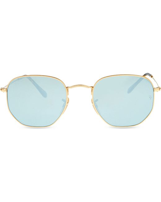 Ray Ban Square Frame Glasses : Ray-ban Rb3548n Square-frame Sunglasses in Metallic Lyst