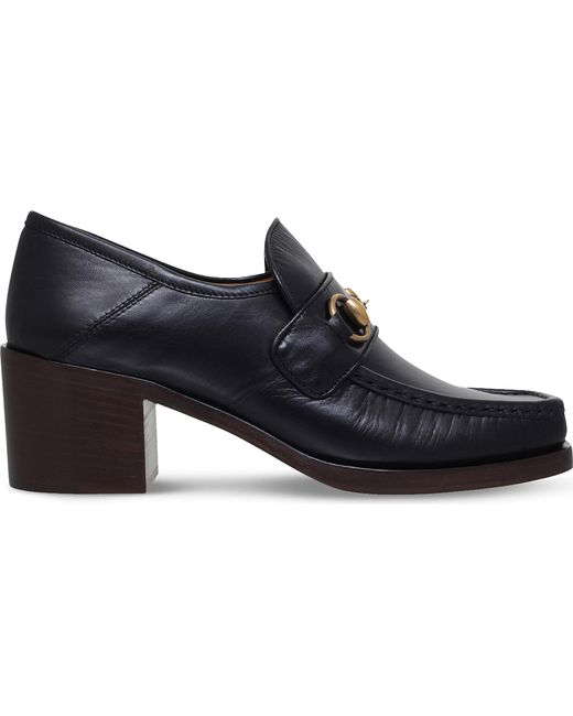 Gucci | Black Vegas Leather Loafers | Lyst