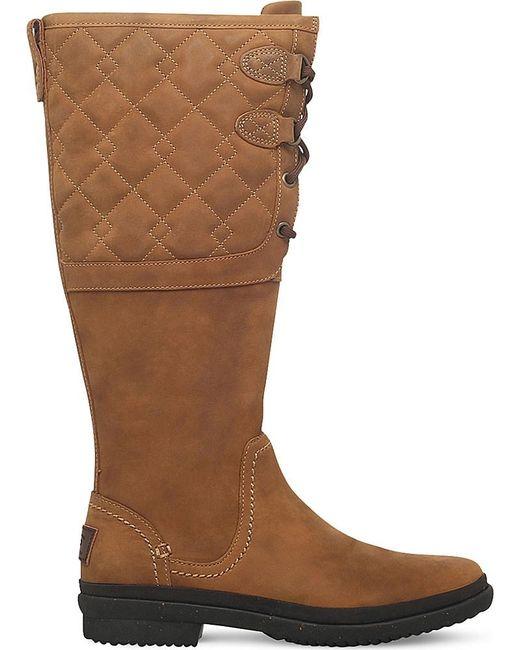 Ugg 174 Elsa Deco Quilt Boots Save 48 Lyst