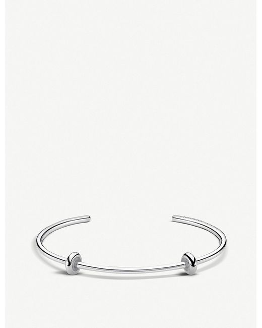 Thomas Sabo - Metallic Karma Beads Sterling Silver Bangle - Lyst