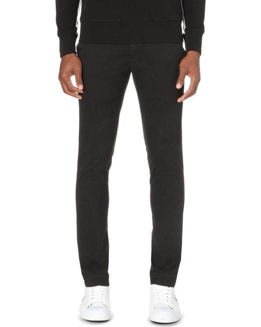 Polo Ralph Lauren | Black Hudson Slim-fit Stretch-cotton Chinos for Men | Lyst