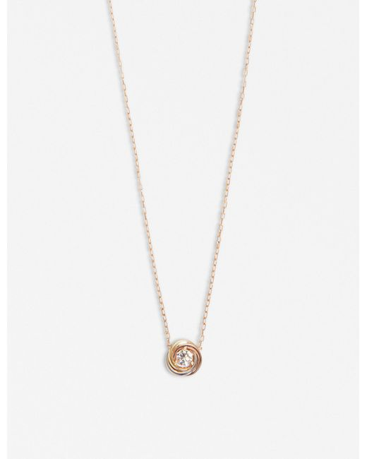 Cartier - Metallic Trinity 18ct Gold And Diamond Necklace - Lyst