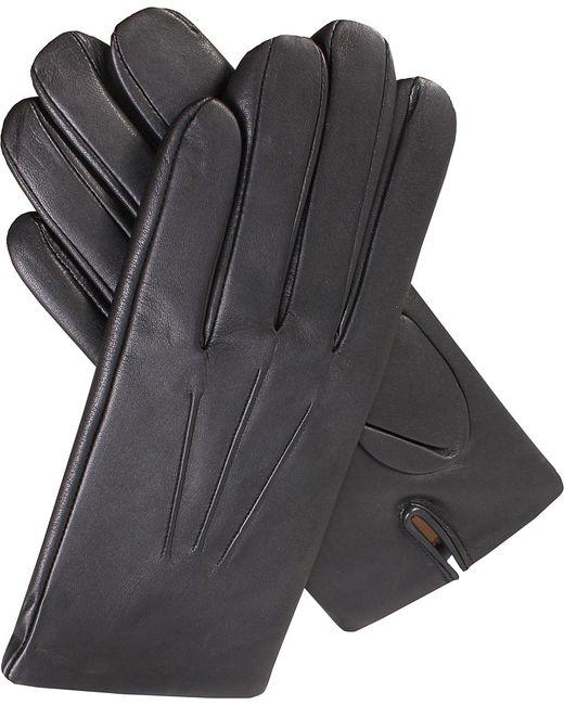 Dents - Black Cashmere-lined Leather Gloves for Men - Lyst