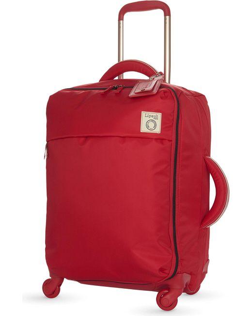 Lipault | Red Inès De La Fressange Four-wheel Cabin Suitcase 55cm | Lyst