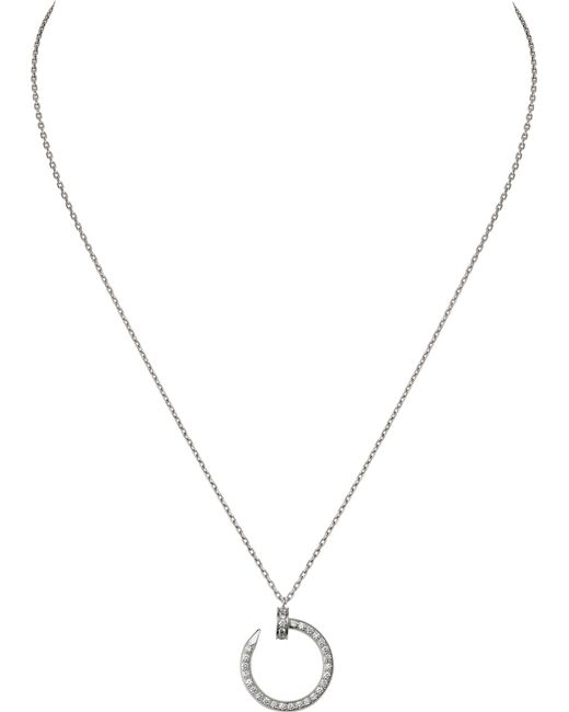 Cartier - Juste Un Clou 18ct White-gold And Diamond Necklace - Lyst