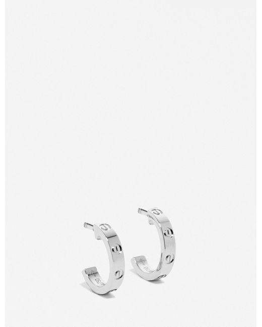 Cartier | Metallic Love 18ct White-gold Earrings | Lyst