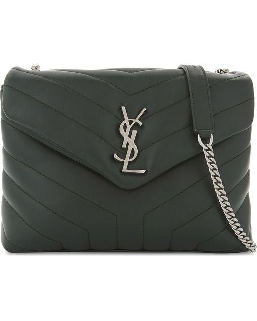 Saint Laurent | Green Monogram Loulou Leather Shoulder Bag | Lyst
